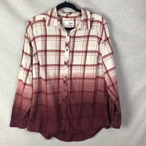 Sonoma Maroon Ombre Flannel